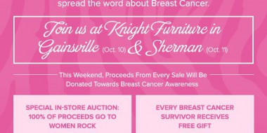Knight Furniture pink event