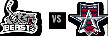 Brampton Beast vs. Allen Americans