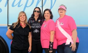 "Gary Nastase Photography - Left to right are Randi Evans, Alexis DeJoria, LuAnn Daniels and Janis Fletcher. Evans got her first mammogram this year via DeJoria's ""Free Mammograms for the Fans"" in Dallas."