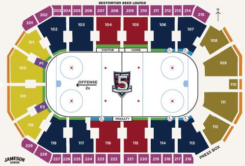 Seating Chart for Hockey Game