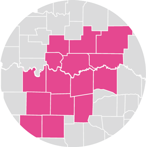 Counties Served in 2018